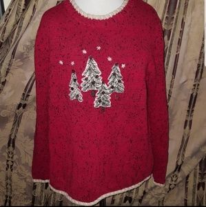 CHRISTMAS UGLY SWEATER PARTY TREE WARM EMBROIDERED
